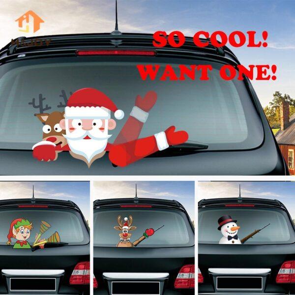 Santa Claus Waving Wiper stickers