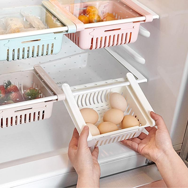 Retractable Fridge Storage Drawers