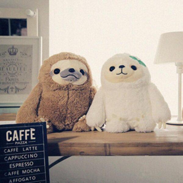Lovable Animal Head Risen Sloth Plush Toys
