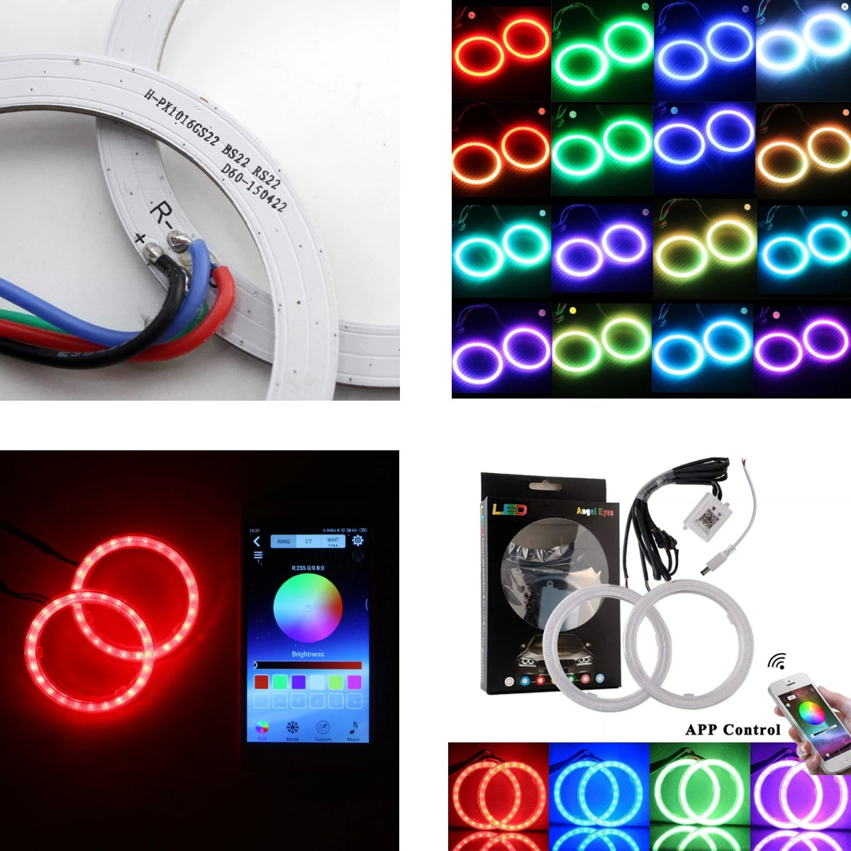 RGB LED Rings Car Lights